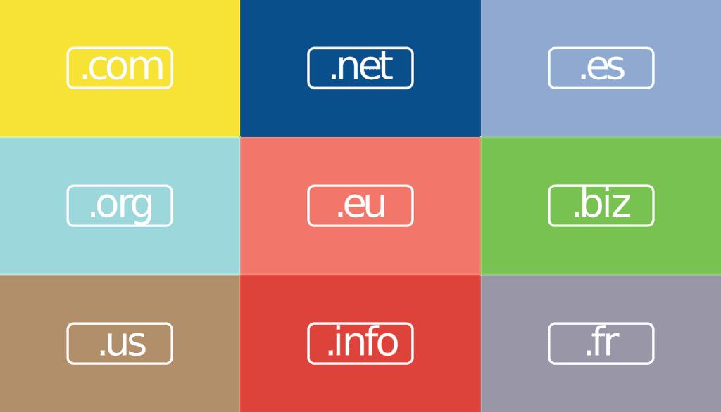 Domain loppuliitteiden esimerkkejä.
